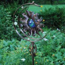Rustic 3D Sun Sculpture Lawn Garden Metal Decor Backyard Windmill Wind Spinner
