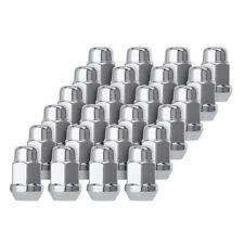 24 Chrome 12x1.25 Closed End Bulge Acorn Lug Nuts - Cone Seat - 19mm Hex