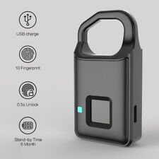 Smart USB Charging Lock Anti-Theft Keyless Lock Fingerprint Padlock Waterproof