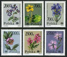 Poland 2983-2988, MI 3282-3287 , MNH. Flowers, 1990