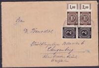 Alliierte Besetzung Mi Nr. 918 Paar WOR, 912 Paar MiF Brief Kassel - Langenberg
