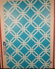 Set Of 8 Teal Lattice Design 100% Plastic Placemats for Dinner Table 17×11 USA