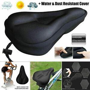 Bike Bicycle Seat Saddle Cover Extra Comfort Padding Soft Nylon Cushion Gym Sore