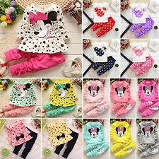 Kinder Kleidung Baby Mädchen 2Tlg Outfit Set Minnie Maus Top Sweatshirt Hose Hot