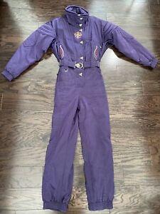 Spyder Women's Active Sports Colorado One Piece Purple Snow Suit Womens Size 10