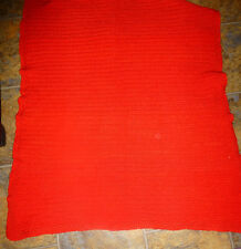 """Crocheted Doll/Baby/Adult Lap Blanket Afghan, Red 100% Acrylic 34 x 37"""""""