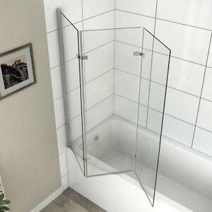 3-teilig Badewannenfaltwand Badewannenaufsatz Faltwand Duschabtrennung H:140cm N