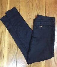H&M Ladies Slim Fit Jeans 8 W26 L30 Black Zip Pocket Trousers Stretchy Casual
