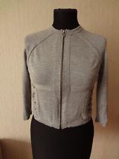 Diane fon Furstenberg women's grey cardigan full zip Sz.S