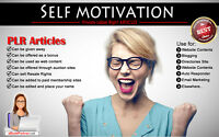 400+ PLR Articles on Self Motivation Niche Private Label Rights