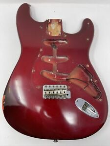 1988 Fender American Vintage Relic '62 Stratocaster CAR over fiesta red Body USA
