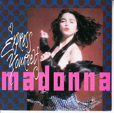 """MADONNA  Express Yourself PICTURE SLEEVE 7"""" 45 rpm record + juke box title strip"""