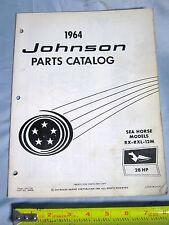 1964 Johnson Sea Horse 28 H.P Outboard Boat Motor Part Catalog P/N 380048