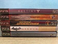 Sony PlayStation 3 PS3 Lot of 5 Games : Batman Transformers Destiny