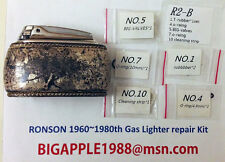 Ronson 1960~1980th Vintage Gas Lighter repair Kit R2-B Free Youtube DIY Video 14