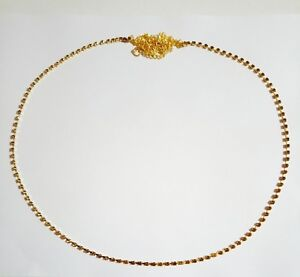 Indian Ethnic Bridal Gold Tone Chain Sari Waist Belt Belly Dance New Jewelry Lct