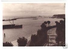 Echtfoto 1930, 12 x 17 cm, Sassnitz Rügen, Übersicht über den Hafen, Molen