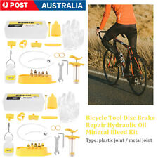 Bicycle Hydraulic Disc Brake Mineral Oil Bleed Kit Funnel Syringe for Shimano