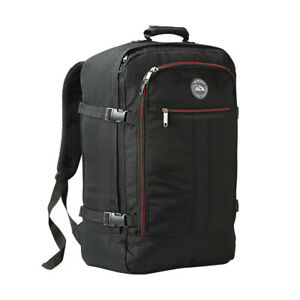 Cabin Max Metz Backpack Black/Red Zips 55 X 40 X 20cm Ryanair Easyjet