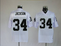 Men's Oakland Raiders Bo Jackson #34 Player Game Stitched Jersey