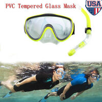 Adult Scuba Mask Snorkel Diving Glasses Set Anti Fog Snorkeling Swimming Dive US