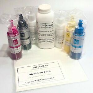 DTF…white+CMYK inks+powder+film…Shirt/fabrics printing…for Epson/pigment printer