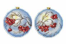 Cross Stitch Kit Christmas Tree Decoration - Rowan R-166 on plastic canvas