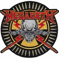 Megadeth Skull and Bullets shaped sew-on cloth patch  (cv)