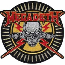Megadeth Skull shaped sew-on cloth patch  (cv)
