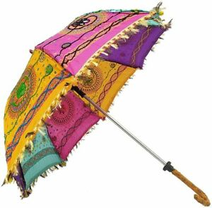 Embroidered Printed Rajasthani Umbrella Use For Celebration, Party, Beach,Garden