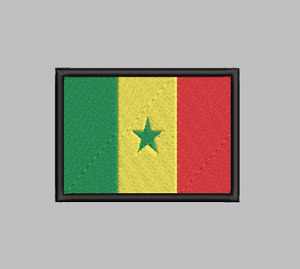 Senegal Flag Patch Iron On Sew On Hook Applique Satisfaction Guaranteed