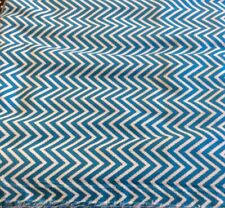 """Fabric Finders Chevron Corduroy #Cd47- Turquoise/White- 58""""W- By The Yard"""