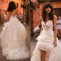 Romantic 3D Floral Applique A line Wedding Dresses Strapless Long Bridal Gowns