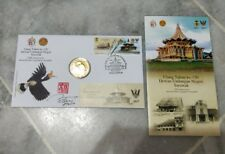 #3 2017 Malaysia 150 Years Sarawak Stamp + Hornbill Enggang Nordic Gold Coin FDC