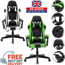 More details for racing chair sport swivel pu leather gaming desk executive computer office chair
