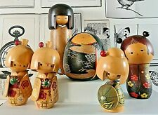 More details for japanese kokeshi dolls traditional wooden collectable gifts fast dispatch