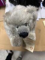 Martin Hermann Mohair Teddy Polar Bear Gray White Vintage 1999 #114 Collectible