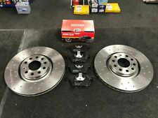 AUDI A4 TDI S LINE B7 AVANT BRAKE DISCS CROSS DRILLED MINTEX BRAKE PAD FRONT