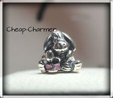 Genuine Pandora Sterling Silver Charms Disney Eeyore 🥀 Pouch Included 🥀