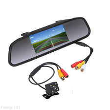 Car Reverse Parking 4 LED Astern Camera Rearview Mirror Display Monitor For BMW