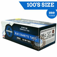 Shargio Full Flavor Filter 100s Light Cigarette Tubes King Size Ryo Blue 4 Boxes