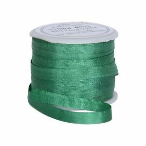 Threadart 100% Pure Silk Ribbon - 4mm Wintergreen - No. 629-3 Sizes - 50 Colors