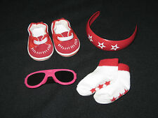 Genuine American Girl Doll Summer Accents Set (bandeau, chaussures, chaussettes & verres)