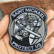 Durable SAINT MICHAEL PROTECT US Tactical Army Sword Morale Patch For Jeans