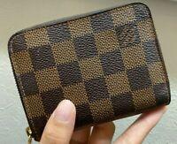 Authentic Louis Vuitton Damier   Zippy Coin Purse Card case Mini wallet LV Japan