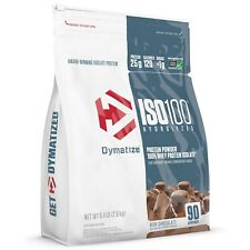 NEW DYMATIZE Chocolate ISO100 Hydrolyzed Whey Protein Isolate 6.4 LB 90 Servings