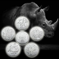 WR Republic of Congo 10 Franc Silver Coin Endangered Wildlife Series Set Gifts 5