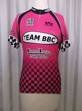 Voler cycling jersey Medium Pink Black White Baltimore Bicycling Club Ads