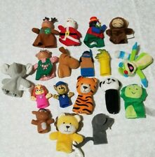 18 Finger Puppets pretend Play Toy Plush Animal Lot paw patrol dinosaur lion