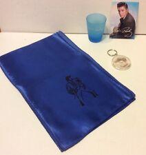 Elvis Presley Collectibles Lot: Elvis Scarf, Shot Glass, Magnet, Keyring